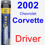 Driver Wiper Blade for 2002 Chevrolet Corvette - Assurance