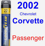 Passenger Wiper Blade for 2002 Chevrolet Corvette - Assurance