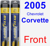 Front Wiper Blade Pack for 2005 Chevrolet Corvette - Assurance