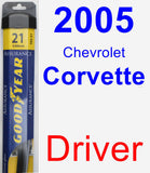 Driver Wiper Blade for 2005 Chevrolet Corvette - Assurance