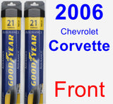 Front Wiper Blade Pack for 2006 Chevrolet Corvette - Assurance