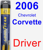 Driver Wiper Blade for 2006 Chevrolet Corvette - Assurance