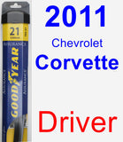 Driver Wiper Blade for 2011 Chevrolet Corvette - Assurance