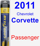 Passenger Wiper Blade for 2011 Chevrolet Corvette - Assurance