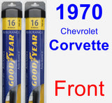 Front Wiper Blade Pack for 1970 Chevrolet Corvette - Assurance
