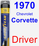 Driver Wiper Blade for 1970 Chevrolet Corvette - Assurance