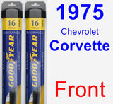 Front Wiper Blade Pack for 1975 Chevrolet Corvette - Assurance
