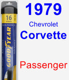 Passenger Wiper Blade for 1979 Chevrolet Corvette - Assurance