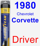 Driver Wiper Blade for 1980 Chevrolet Corvette - Assurance