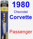 Passenger Wiper Blade for 1980 Chevrolet Corvette - Assurance
