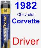 Driver Wiper Blade for 1982 Chevrolet Corvette - Assurance