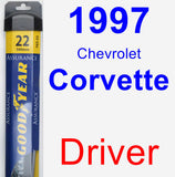 Driver Wiper Blade for 1997 Chevrolet Corvette - Assurance