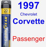 Passenger Wiper Blade for 1997 Chevrolet Corvette - Assurance
