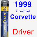 Driver Wiper Blade for 1999 Chevrolet Corvette - Assurance