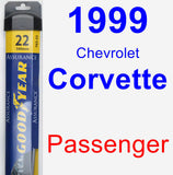 Passenger Wiper Blade for 1999 Chevrolet Corvette - Assurance