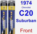 Front Wiper Blade Pack for 1974 Chevrolet C20 Suburban - Assurance