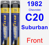 Front Wiper Blade Pack for 1982 Chevrolet C20 Suburban - Assurance