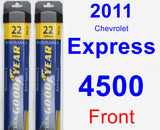 Front Wiper Blade Pack for 2011 Chevrolet Express 4500 - Assurance