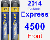 Front Wiper Blade Pack for 2014 Chevrolet Express 4500 - Assurance