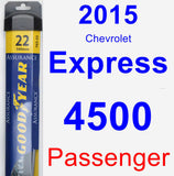 Passenger Wiper Blade for 2015 Chevrolet Express 4500 - Assurance