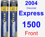 Front Wiper Blade Pack for 2004 Chevrolet Express 1500 - Assurance