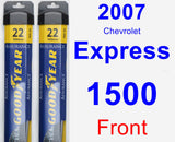 Front Wiper Blade Pack for 2007 Chevrolet Express 1500 - Assurance