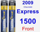 Front Wiper Blade Pack for 2009 Chevrolet Express 1500 - Assurance