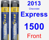 Front Wiper Blade Pack for 2013 Chevrolet Express 1500 - Assurance