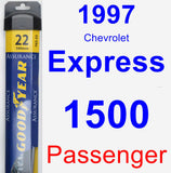 Passenger Wiper Blade for 1997 Chevrolet Express 1500 - Assurance