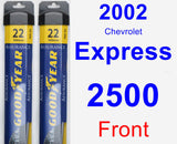 Front Wiper Blade Pack for 2002 Chevrolet Express 2500 - Assurance