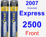 Front Wiper Blade Pack for 2007 Chevrolet Express 2500 - Assurance