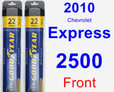Front Wiper Blade Pack for 2010 Chevrolet Express 2500 - Assurance