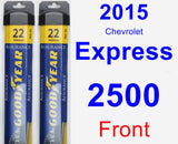 Front Wiper Blade Pack for 2015 Chevrolet Express 2500 - Assurance