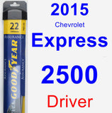 Driver Wiper Blade for 2015 Chevrolet Express 2500 - Assurance