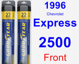 Front Wiper Blade Pack for 1996 Chevrolet Express 2500 - Assurance