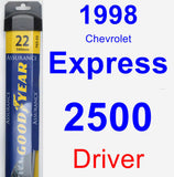 Driver Wiper Blade for 1998 Chevrolet Express 2500 - Assurance