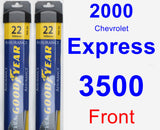 Front Wiper Blade Pack for 2000 Chevrolet Express 3500 - Assurance