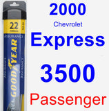 Passenger Wiper Blade for 2000 Chevrolet Express 3500 - Assurance