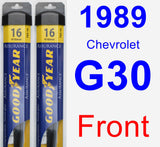 Front Wiper Blade Pack for 1989 Chevrolet G30 - Assurance
