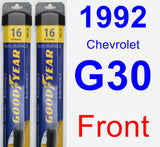 Front Wiper Blade Pack for 1992 Chevrolet G30 - Assurance