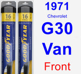Front Wiper Blade Pack for 1971 Chevrolet G30 Van - Assurance