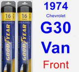 Front Wiper Blade Pack for 1974 Chevrolet G30 Van - Assurance