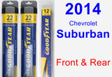 Front & Rear Wiper Blade Pack for 2014 Chevrolet Suburban - Assurance