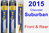 Front & Rear Wiper Blade Pack for 2015 Chevrolet Suburban - Assurance