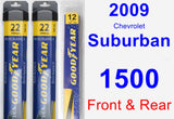 Front & Rear Wiper Blade Pack for 2009 Chevrolet Suburban 1500 - Assurance