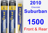 Front & Rear Wiper Blade Pack for 2010 Chevrolet Suburban 1500 - Assurance