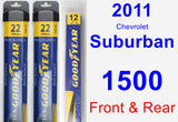 Front & Rear Wiper Blade Pack for 2011 Chevrolet Suburban 1500 - Assurance