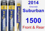 Front & Rear Wiper Blade Pack for 2014 Chevrolet Suburban 1500 - Assurance