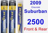 Front & Rear Wiper Blade Pack for 2009 Chevrolet Suburban 2500 - Assurance