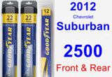Front & Rear Wiper Blade Pack for 2012 Chevrolet Suburban 2500 - Assurance